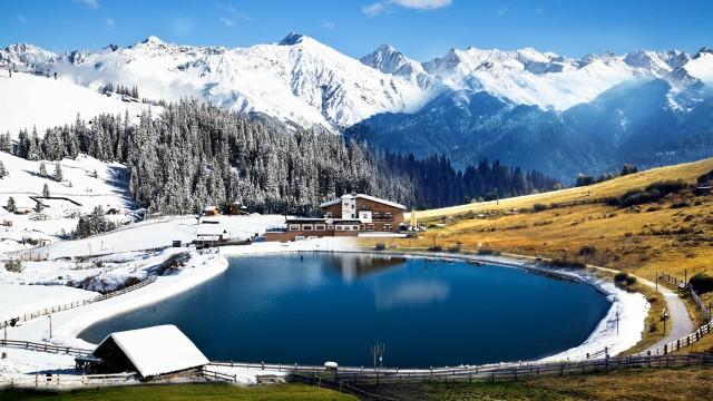 Landscape  Lake  Snow