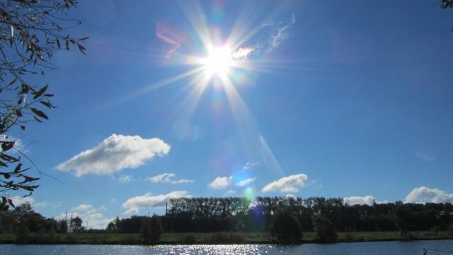 Landscape sun pond