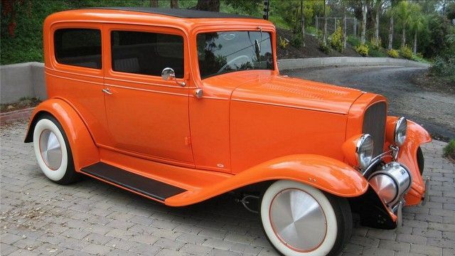 Car retro orange