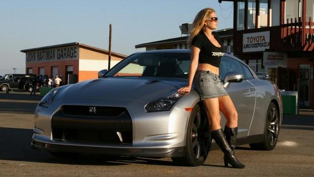 Character  woman car silver