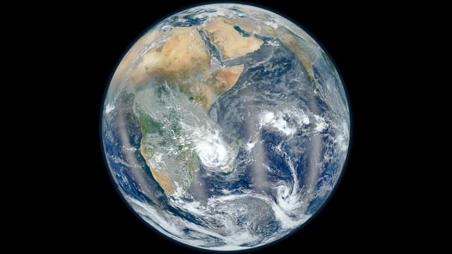 Planet Earth Black Blue