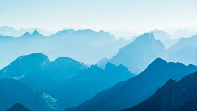 Landscape  Mountain sora blue