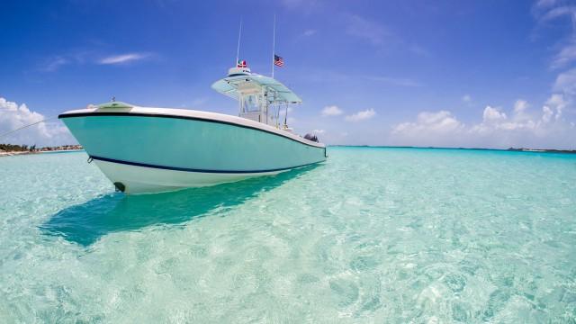 Sea vehicle ship blue