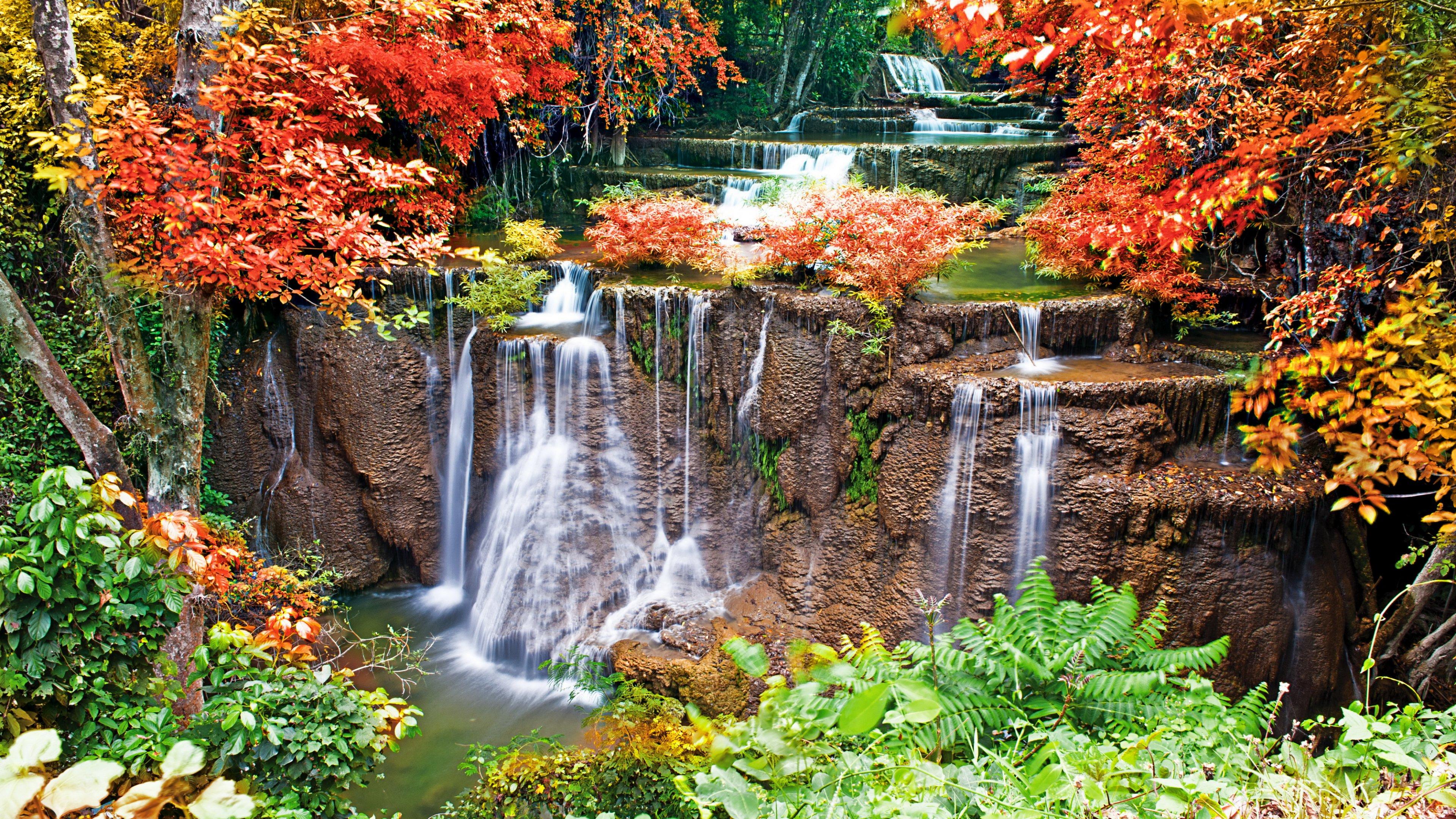 風景滝 4k壁紙 Com