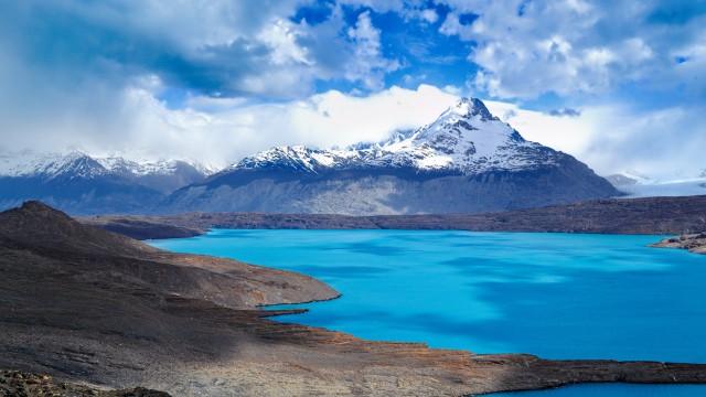 Landscape mountain lake