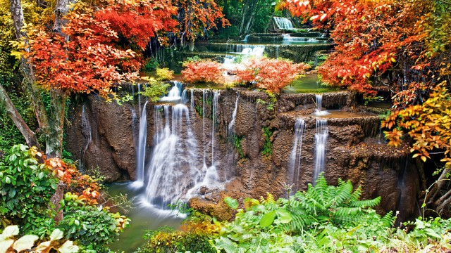 Landscape waterfall