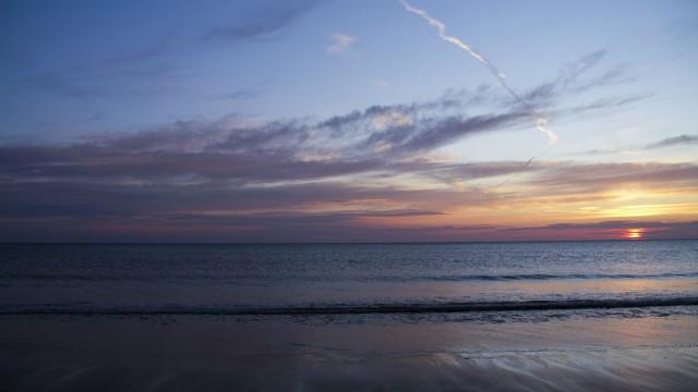Landscape sea sunrise