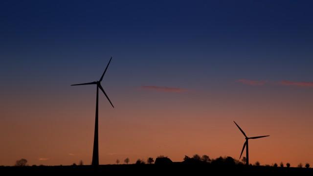 Landscape windmill sunset