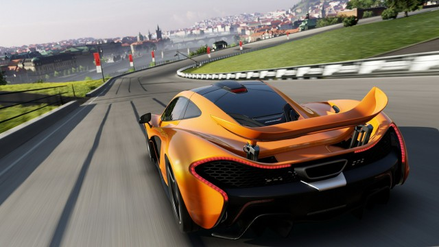 Vehicle racer orange