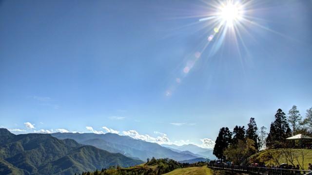 Landscape sun sky blue