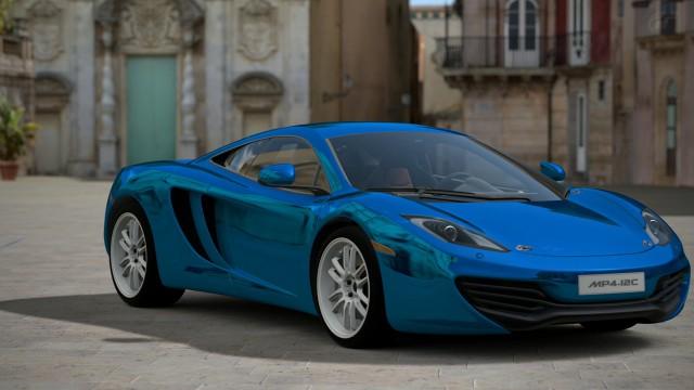Car rides blue