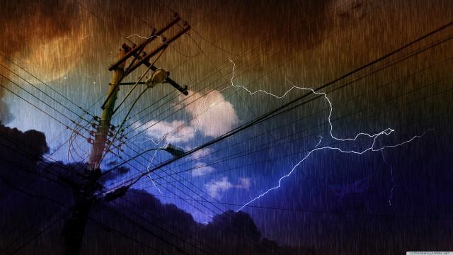 Rain lightning landscape storm