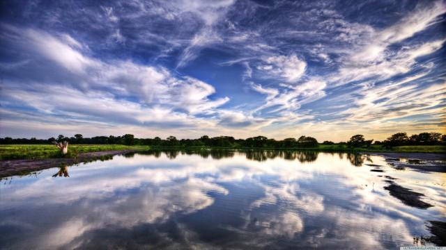 Landscape clouds Kukai blue