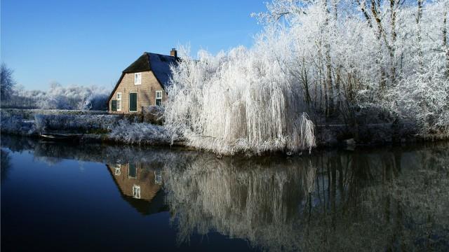 風景建物雪