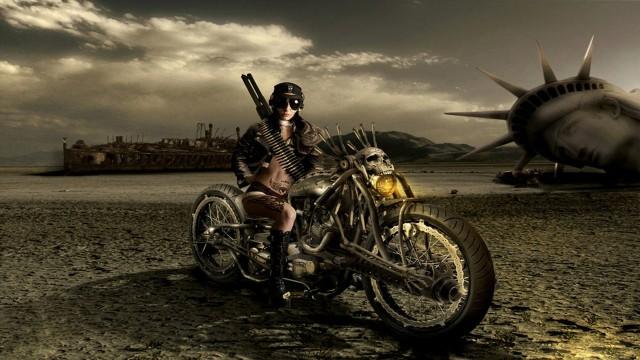 キャラバイク女性黒