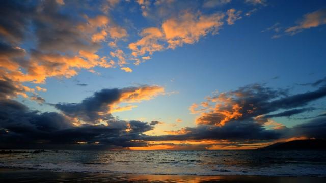 風景空海夕日