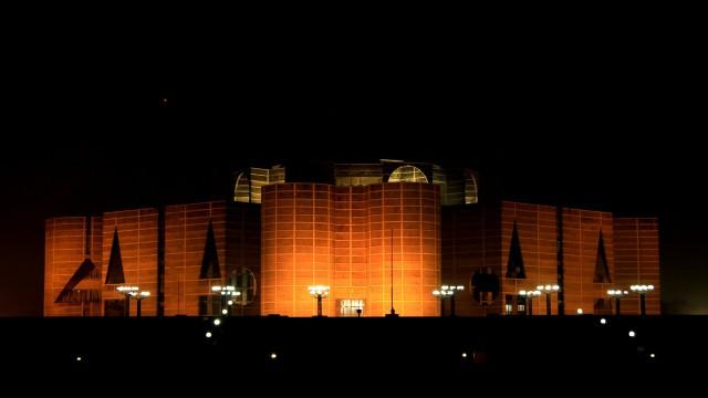 建物夜ライト