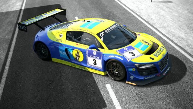 車レース青黃
