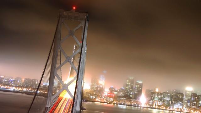 橋夜ライト建物