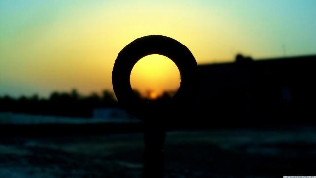 風景夕日ぼかし