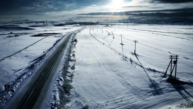 雪景色太陽