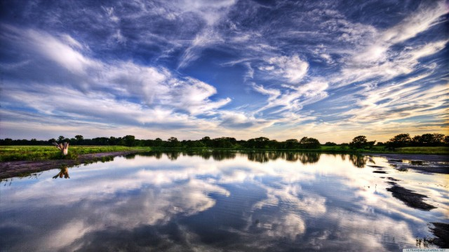 風景雲空海青